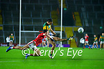 David Clifford, Kerry in action against Mark Collins, Cork, during the Munster GAA Football Senior Championship Semi-Final match between Cork and Kerry at Páirc Uí Chaoimh in Cork.