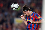 Football Season 2009-2010. Barcelona's player Zlatan Ibrahimovic  during their Spanish first division soccer match at Camp Nou stadium in Barcelona October 25, 2009