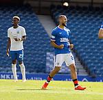 22.08.2020 Rangers v Kilmarnock: Kemar Roofe scores for Rangers and celebrates hia goal