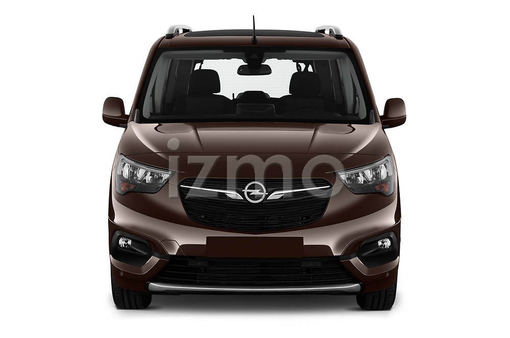 Car photography straight front view of a 2019 Opel Combo-Life Innovation 5 Door Mini Mpv Front View