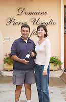 Thierry and Sandrine Usseglio owner domaine p usseglio chateauneuf du pape rhone france