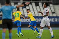 05th July 2021; Nilton Santos Stadium, Rio de Janeiro, Brazil; Copa America, Brazil versus Peru; Lucas Paquetá of Brazil celebrates his goal in the 43th minute for 1-0