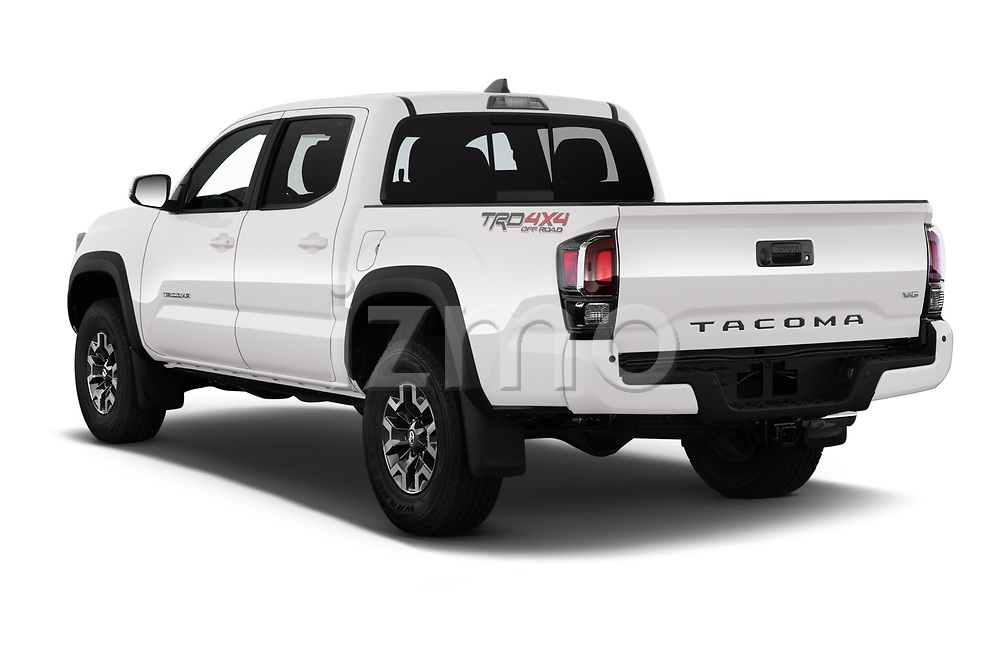 Car pictures of rear three quarter view of 2020 Toyota Tacoma TRD-Off-Road 4 Door Pick-up Angular Rear