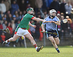 Fionn Slattery of Scariff Community College in action against Ben Delaney of St Fergal's College during their All-Ireland Colleges final at Toomevara. Photograph by John Kelly.