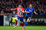 Jose Maria Gimenez de Vargas (L) of Atletico de Madrid competes for the ball with Andrija Pavlovic of FC Copenhague during the UEFA Europa League 2017-18 Round of 32 (2nd leg) match between Atletico de Madrid and FC Copenhague at Wanda Metropolitano  on February 22 2018 in Madrid, Spain. Photo by Diego Souto / Power Sport Images