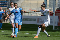 Bridgeview, IL - Saturday April 22, 2017: Jen Hoy, Yael Averbuch during a regular season National Women's Soccer League (NWSL) match between the Chicago Red Stars and FC Kansas City at Toyota Park.