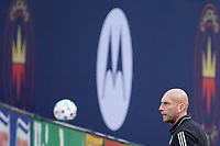CHICAGO, UNITED STATES - AUGUST 25: Jaap Stam head coach of FC Cincinnati looks on during a game between FC Cincinnati and Chicago Fire at Soldier Field on August 25, 2020 in Chicago, Illinois.