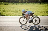 Oliver Naesen (BEL/AG2R - La Mondiale) tucked in<br /> <br /> 62nd E3 BinckBank Classic (Harelbeke) 2019 <br /> One day race (1.UWT) from Harelbeke to Harelbeke (204km)<br /> <br /> ©kramon