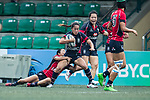 Rose Hopewell-Fong of Dragons (C) in action during the Women's National Super Series 2017 on 13 May 2017, in Hong Kong Football Club, Hong Kong, China. Photo by Cris Wong / Power Sport Images
