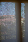 Collioure France 2016. View of town from museum window seen through window screen. 2010s,