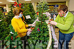 Mary McNamara and Mary Brosnan  putting on the Christmas decorations on the tree, in McKennas on Friday.