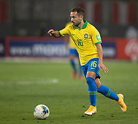 13th October 2020; National Stadium of Peru, Lima, Peru; FIFA World Cup 2022 qualifying; Peru versus Brazil;  Everton Ribeiro of Brazil looks for a passing outlet