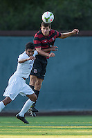 STANFORD, CA - August 19, 2014: Tomas Hilliard-Arce during the Stanford vs CSU Bakersfield men's exhibition soccer match in Stanford, California.  Stanford won 1-0.