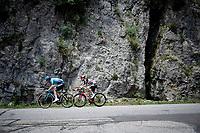breakaway  duo Hugo Houle (CAN/Astana-Premier Tech) & Tosh Van der Sande (BEL/Lotto Soudal)<br /> <br /> Stage 10 from Albertville to Valence (191km)<br /> 108th Tour de France 2021 (2.UWT)<br /> <br /> ©kramon