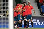 Spain's Dani Ceballos, Rodrigo Moreno, Dani Carvajal, Marco Asensio, Nacho Fernandez and Saul Niguez celebrate goal during UEFA Nations League 2019 Final Tournament match. September 11,2018.(ALTERPHOTOS/Acero)