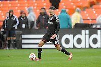 Washington, D.C.- March 29, 2014. Davy Arnaud (8) of D.C. United. The Chicago Fire tied D.C. United 2-2 during a Major League Soccer Match for the 2014 season at RFK Stadium.