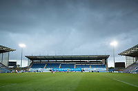 The rain clouds gathered late in the game during Colchester United vs Oldham Athletic, Sky Bet EFL League 2 Football at the JobServe Community Stadium on 3rd October 2020