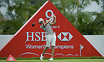 SINGAPORE - MARCH 05:  Lorena Ochoa of Mexico plays her tee shot on the par five 9th hole during the first round of HSBC Women's Champions at the Tanah Merah Country Club on March 5, 2009 in Singapore. Photo by Victor Fraile / The Power of Sport Images