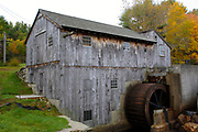 """Taylor Sawmill State Historic Site on Ballard Pond in Derry, New Hampshire USA. This sawmill is one of the few functional """"up and down"""" sawmills."""