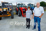 At the Paudie Fitzmaurice Tractor Run in Castleisland on Sunday, l to r: Evan Kelliher and Sean Walsh from Castleisland.