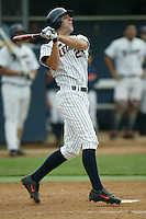 Danny Dorn of the Cal State Fullerton Titans bats during a game at Goodwin Field on June 6, 2003 in Fullerton, California. (Larry Goren/Four Seam Images)