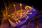 Bighorn Sheep and Arrows, Three Rivers Petroglyph Site, New Mexico