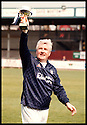 20TH MAY 98      Copyright Pic : James Stewart   .STEVE JOYCE, ONE MEMBER OF THE CONSORTIUM WHO TOOK OVER TODAY AT BROCKVILLE,  GETS HIS HANDS ON HIS FIRST PIECE OF SILVER WARE AFTER A FALKIRK SELECT SIDE, IN WHICH HE PLAYED, BEAT DUKLA PUMPHERSTON IN A CHALLENGE MATCH IN AID OF THE BACK THE BAIRNS CAMPAIGN ON SUNDAY 17TH MAY 98.........Payments to :-.James Stewart Photo Agency, Stewart House, Stewart Road, Falkirk. FK2 7AS      Vat Reg No. 607 6932 25.Office : 01324 630007        Mobile : 0421 416997.If you require further information then contact Jim Stewart on any of the numbers above.........