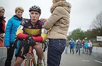 Belgian National U23 Champion Laurens Sweeck (BEL) post-race<br /> <br /> UCI Worldcup Heusden-Zolder Limburg 2013