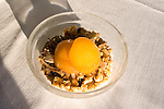 Peaches and Cereal, Les Etoiles Restaurant, Rome, Italy, Europe