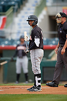 Jupiter Hammerheads Victor Victor Mesa (32) at bat during a Florida State League game against the Florida Fire Frogs on April 8, 2019 at Osceola County Stadium in Kissimmee, Florida.  Florida defeated Jupiter 7-6 in ten innings.  (Mike Janes/Four Seam Images)