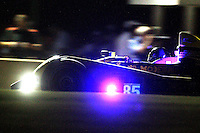 #85 ORECA FLM09, Chris Miller, Mikhail Golkhberg, Stephen Simpson, night action, Petit Le Mans , Road Atlanta, Braselton, GA, October 2014.   (Photo by Brian Cleary/www.bcpix.com)