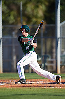 Dartmouth Big Green catcher Bennett McCaskill (18) at bat during a game against the Northeastern Huskies on March 3, 2018 at North Charlotte Regional Park in Port Charlotte, Florida.  Northeastern defeated Dartmouth 10-8.  (Mike Janes/Four Seam Images)