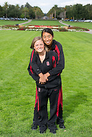 Corinne Smith and Gayle Lee of the 2010 Stanford Synchronized Swimming team.