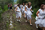 Young pilgrims in Kalwaria Paclawska during the funeral of Mother Mary.