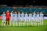 3rd July 2021, Estádio Olímpico Pedro Ludovico stadium, Goiânia, Brazil: Copa America Football tournament, Argentina versus Ecuador;   Team Argentina