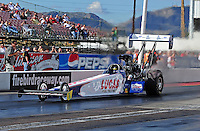 Jan 24, 2009; Chandler, AZ, USA; NHRA top fuel dragster driver Shawn Langdon during testing at the National Time Trials at Firebird International Raceway. Mandatory Credit: Mark J. Rebilas-