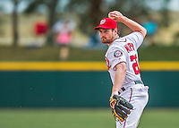 13 March 2016: Washington Nationals infielder Daniel Murphy in action during a pre-season Spring Training game against the St. Louis Cardinals at Space Coast Stadium in Viera, Florida. The teams played to a 4-4 draw in Grapefruit League play. Mandatory Credit: Ed Wolfstein Photo *** RAW (NEF) Image File Available ***
