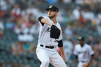 Charlotte Knights starting pitcher Justin Nicolino (30) in action against the Gwinnett Braves at BB&T BallPark on July 12, 2019 in Charlotte, North Carolina. The Stripers defeated the Knights 9-3. (Brian Westerholt/Four Seam Images)