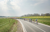 stretched peloton<br /> <br /> 85th La Flèche Wallonne 2021 (1.UWT)<br /> 1 day race from Charleroi to the Mur de Huy (BEL): 194km<br /> <br /> ©kramon