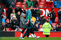 Lukasz Fabianski of Swansea City walks off the pitch during the pre-match warm-up prior to the Premier League match between Manchester United and Swansea City at the Old Trafford, Manchester, England, UK. Saturday 31 March 2018