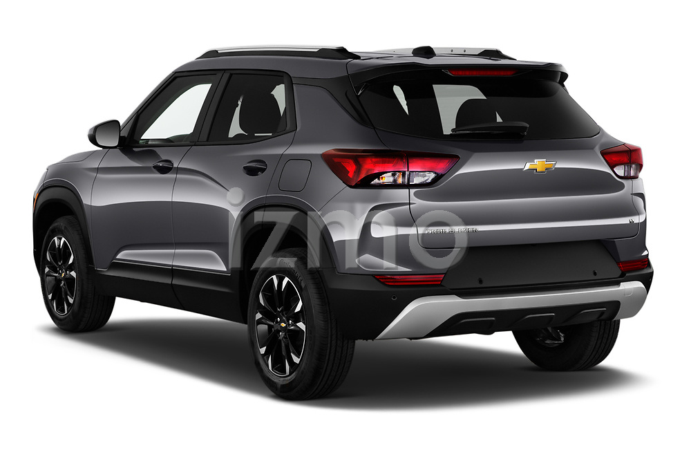 Rear three quarter view of a 2021 Chevrolet Trailblazer LT 5 Door SUV