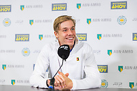 Rotterdam, The Netherlands, 12 Februari 2019, ABNAMRO World Tennis Tournament, Ahoy, Press Conference, Denis Shapovalov (CAN),<br /> Photo: www.tennisimages.com/Henk Koster