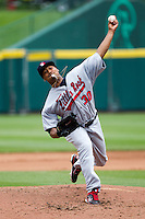 Trevor Reckling (30) of the Arkansas Travelers delivers a pitch during a game against the Springfield Cardinals on May 10, 2011 at Hammons Field in Springfield, Missouri.  Photo By David Welker/Four Seam Images.