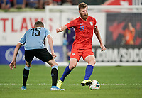 St. Louis, MO - SEPTEMBER 10: Tim Ream #13 of the United States moves with the ball during their game versus Uruguay at Busch Stadium, on September 10, 2019 in St. Louis, MO.