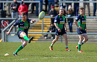 Saturday 13th April 2019 | Ballynahinch 4 vs Banbridge 3<br /> <br /> James Gillespie during the Crawford Cup final between Ballynahinch and Banbridge at Kingspan Stadium, Ravenhill Park, Belfast, Northern Ireland.  Photo by John Dickson / DICKSONDIGITAL