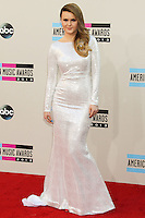 LOS ANGELES, CA - NOVEMBER 24: Ashlee Keating arriving at the 2013 American Music Awards held at Nokia Theatre L.A. Live on November 24, 2013 in Los Angeles, California. (Photo by Celebrity Monitor)