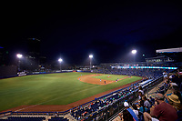 A view of ONEOK Field in Tulsa, Oklahoma during a game between the Tulsa Drillers and the Corpus Christi Hooks on June 3, 2017.  Corpus Christi defeated Tulsa 5-3.  (Mike Janes/Four Seam Images)