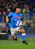 Calcio, Serie A: AS Roma vs SSC Napoli, Olympic stadium, October 24, 2021.<br /> Napoli's Matteo Politano in action during the Italian Serie A football match between Roma and Napoli at Rome's Olympic stadium, on , October 24, 2021. <br /> UPDATE IMAGES PRESS/Isabella Bonotto