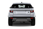 Straight rear view of 2019 Land Rover Range-Rover-Evoque SE 5 Door SUV Rear View  stock images