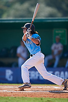 Kyle Debarge (11) during the WWBA World Championship at Terry Park on October 8, 2020 in Fort Myers, Florida.  Kyle Debarge, a resident of Lake Charles, Louisiana who attends Alfred M. Barbe High School, is committed to Louisiana-Lafayette.  (Mike Janes/Four Seam Images)